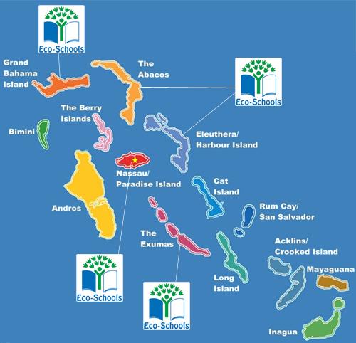 Eco-Schools Map of The Bahamas - BREEF